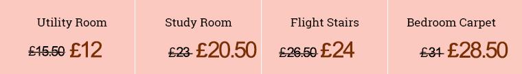 Prices for Carpet Clean in DA1