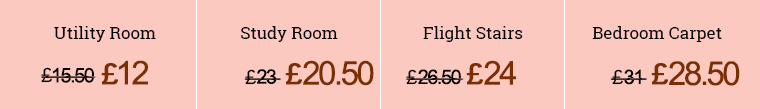 Prices for Carpet Clean in SW7